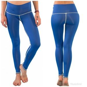 Teeki Hot Pants  Oshun Blue Leggings Size Small